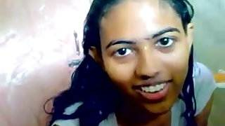 indian teen in shower with her bf