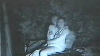 hidden real spy cam (night vision) japanese park