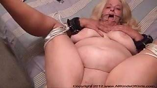 POV Anal 60 Year Old Granny Wanda Gets Tied &amp, Butt Fucked