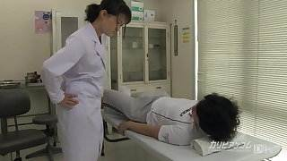 school nurse giving a great hand blowjob cum hot sex video