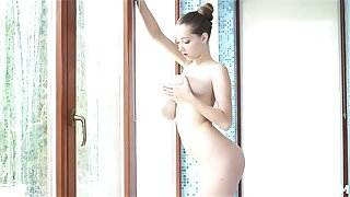 Perfect lady with big boobs get fucking in bath room husband sex with hot servant x video