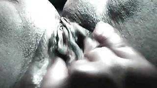 Black wet pussy orgasm contractions