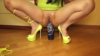 Matryoshka in the ass, squirting, prolapse, Russian Bella