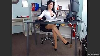 Beautiful girl in her office hot mommy sex nude video