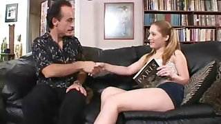 Pigtailed Teen Babysitter Fucks The Daddy !