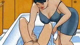 Mature mom handjob dick her boy! Animation! viva hot babe sex video scandal