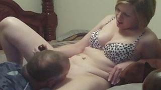 MILF wife cumming with the help of a tongue &, a vibrator