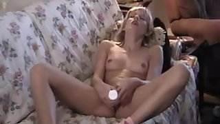 Female masturbation - vibrator