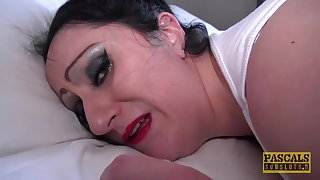 English BBW whore ass hammered and fed with masters cum