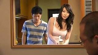 Japanese milf and young boy (censored) sex hot pocket video