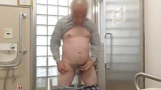 Japanese old man masturbation erect penis semen flows free porn pics and videos