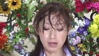 Nishio Kaori &amp, Anzu Yuu in japanese bukkake tv news