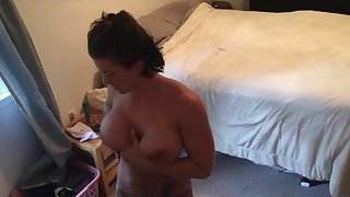 Horny Muscle Girl 4 masturbation orgasms