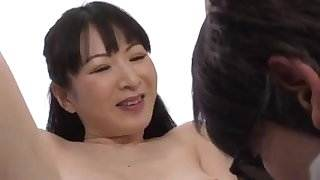 Hot mom takes care and teaches sex