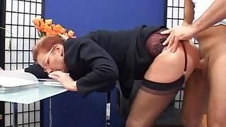 Classy mature secretary fucked