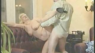 Granny in White Stockings Fucks