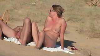 French couple on the beach, full version