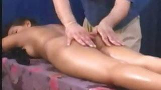 Big tits indian girl gets massage, pussy shave and fuck