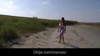 Big titty teen fucking Older on the beach