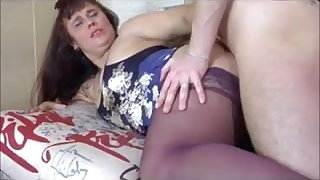 Big Ass Mature in Stockings Gets Anal