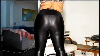 chubby in shiny leggings &amp, pantyhose