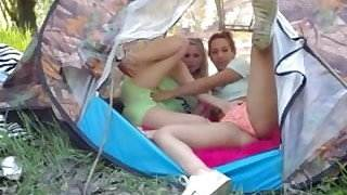 Amateur - Two Hot Teens Outdoor Play on Cam