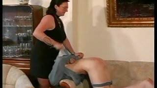 Granny Straps and Spanks the Boy pt3
