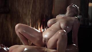 Massage Rooms Sexy MILF with huge natural tits