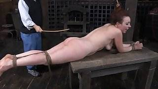 Clamped knockers and intensive toy shoveling for slave
