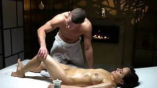 Massage Rooms Sexy Afghan babe has sensual orgasm