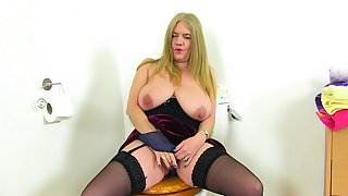 English milf Lily May gets down and dirty in bathroom