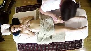 Ginger massage beauty with big tits cocksucks