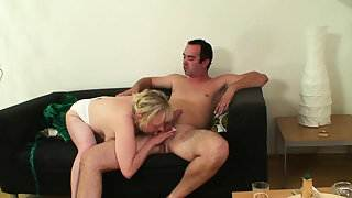 Girlfriends old mother seduces him into taboo sex