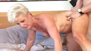 Granny Wife Jewel Nailed By Young Stud