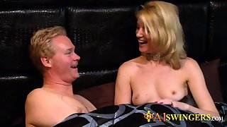 Swingers have quality sex in the house