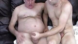 Grandpa and NOT his Son Having a Lesson the Couch