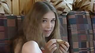Peculiar Russian teen floosie gets banged apart from an age-old beggar
