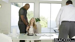 BLACKED Perfect Blonde Karla Kush With 2 Monster Black Cocks
