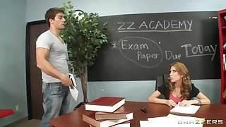 Brazzers - Sex hungry teacher Aleksa Nicole fucks a student