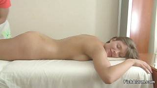 brother Seduce NOT his Step-sister to Fuck with Massage