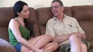 young chick first time fucking with old man