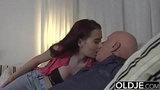 Sugar Daddy Fucks Step-Daughter Tight Pussy Goes Deep inside